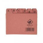 Separadores abecedario para ficheros de cartón Mariola para fichero nº1, 65x95mm