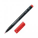 Rotulador permanente Staedtler Lumocolor punta fina rojo