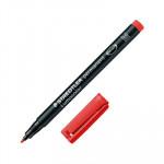 Rotulador permanente Staedtler Lumocolor punta media rojo