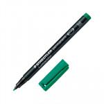 Rotulador permanente Staedtler Lumocolor punta media verde