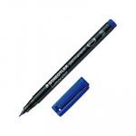 Rotulador permanente Staedtler Lumocolor punta superfina azul