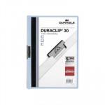 Dossier con clip metálico A4 30 hojas Durable Duraclip azul claro