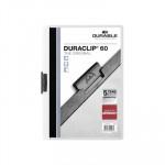 Dossier con clip metálico A4 60 hojas Durable Duraclip blanco