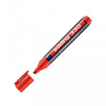 Rotulador permanente punta biselada Edding 330 rojo