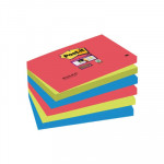 Bloc de notas adhesivas Post-it Super Sticky colores Bora Bora 76x127mm