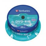 DVD-RW grabable 4,7Gb Verbatim Colour 43639