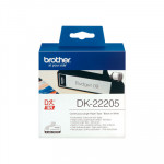 Cintas continua para impresoras de etiquetas Brother QL papel térmico blanco 62mm