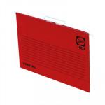 Carpeta colgante visor superior color varilla metálica lomo V Gio by Elba A4 rojo