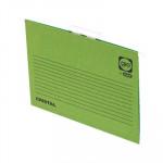 Carpeta colgante visor superior color varilla metálica lomo V Gio by Elba A4 verde