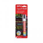 Rotulador de tiza líquida punta cónica Apli Liquid Chalk 13954