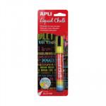 Rotulador de tiza líquida punta cónica Apli Liquid Chalk 13956