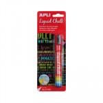 Rotulador de tiza líquida punta cónica Apli Liquid Chalk 13957