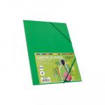 Carpeta con gomas y solapas cartón folio colores Fabrisa verde