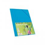 Carpeta con gomas y solapas cartón folio colores Fabrisa azul