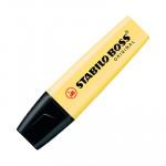 Rotulador fluorescente Stabilo Boss Pastel amarillo cremoso