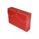 Caja de archivo definitivo folio polipropileno Grafoplás rojo