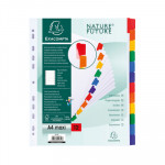 Separadores de cartulina A4 Maxi con pestañas de colores Exacompta 4312E