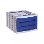 Módulo de 3 cajones Archivo 2000 Archivotec azul opaco