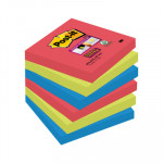 Bloc de notas adhesivas Post-it Super Sticky colores Bora Bora 654-6SS-JP