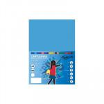 Cartulina de color  A4 Fabrisa azul turquesa