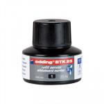 Tinta para rotulador de pizarra blanca Edding BTK25 negro