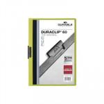 Dossier con clip metálico A4 60 hojas Durable Duraclip verde claro
