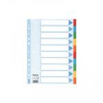 Separadores de cartón A4 colores Esselte 10 pestañas/ 5 colores