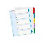 Separadores de cartulina A4 maxi índice númerico con pestañas reescribibles Esselte del 1 al 5