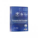 Carpeta con fundas A4 personalizable Officebox 40 fundas negro