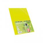 Carpeta con gomas y solapas cartón folio colores Fabrisa amarillo