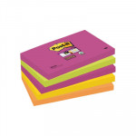 Bloc de notas adhesivas Post-it Super Sticky colores Cape Town 76x127mm