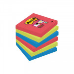 Bloc de notas adhesivas Post-it Super Sticky colores Bora Bora 47,6x47,6mm