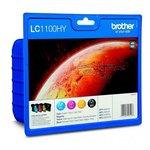 Cartucho inkjet Brother LC-1100 Pack 4 colores Alta capacidad 750 páginas