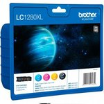 Cartucho inkjet Brother LC-1280 Colores Pack 4 colores LC1280XLVALBP