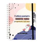 Agenda 2022 Miquelrius Miss Borderlike: Brillar Semana Vista 15,5X21,3Cm Castellano