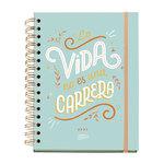 Agenda 2022 Miquelrius Happy Letters: Carrera Semana Vista 15,5X21,3Cm Castellano