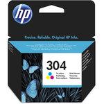 Cartucho inkjet HP 304 Tri-color 100 páginas